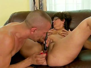Mature lady Gigi M dreams to get real pleasure and paid some money her neighbor for a super hot cunnilingus. He brought some toys to make this action