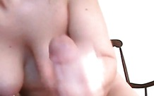 Two pierced nipples on this handjob artist