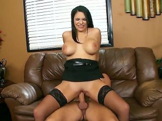 Danny Mountain came at the work in a bad mood. His super hot and horny secretary with big boobs and hot black hair Missy Martinez knows some secrets h