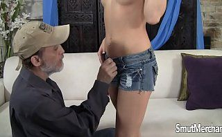 Young girl Angie Sweet fucked by old dude