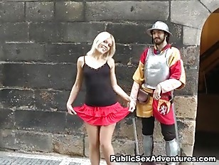 Wild Public Sex With Horny Blonde Girl