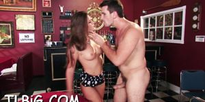 Luscious pussy of cute teen is licked and banged by mal