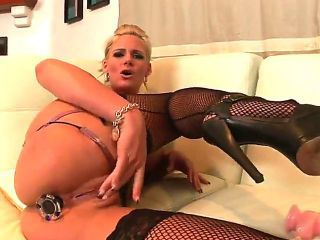 Delicious kitty Phoenix Marie spends her sexual energy alone using dildo in anal solo action  - Pornalized.com adult movie
