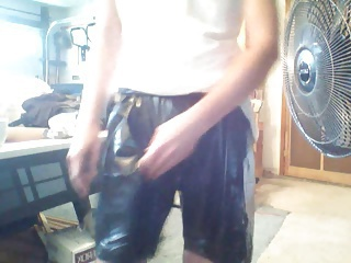 shiny vinyl shorts