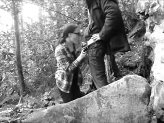 Blowjob in the woods