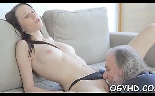 Olf fart fucks mouth of a juvenile beauty