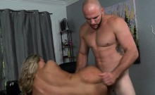 Teen doxy rides large cock at a hard core casting session