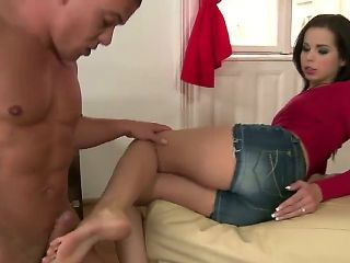Brunette Jessica Koks shows sex tricks with passion and desire