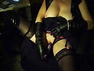 Leather Gloves And Dildo