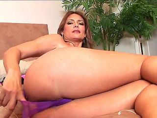 Arousing turned on experienced brunette milf Monique Fuentes with big fake tits and tight ass in sexy undies teases her horny lover in hot bedroom ses