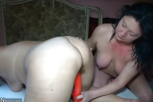 HOT Very Chubby Old Granma And Enjoying Really