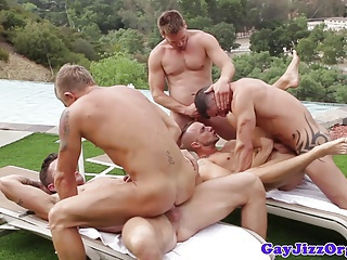 Hunky athletic gays blowing their loads