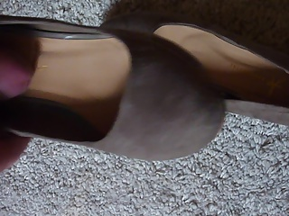 cum in shoe of girlfriend - new shoes