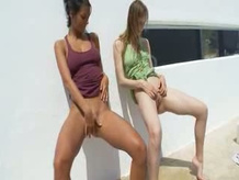 Two mad sapphic friends Piss
