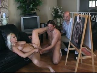 Jaw dropping mommy Lady Victoria banged in front of cuckold husband