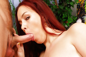 Stacked Redhead Stella Fox Takes Giant Popshots On Her Naturals