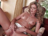 Curly haired topless babe Prinzzess Felicity Jade with perky tits