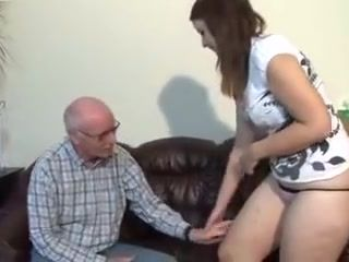 Bulky Gal With An Old Dude