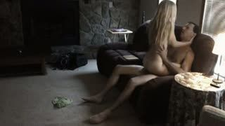 Blonde Wife Fucked In The Living Room
