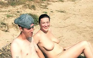 naked mature on beach with 2 horny cocks 720p