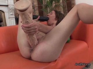 Skank Gets Bored And Plays With Giant Dildos
