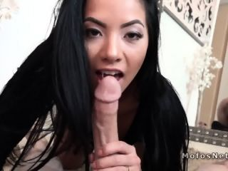 Petite Asian gf anal bangs pov