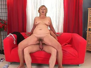 Mature woman named Lady seduces her young and sexy neighborhood dude Steve Q