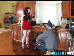 Daughter wants to play with plumber