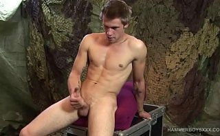 Young and Muscular Standa Toth Beating Off