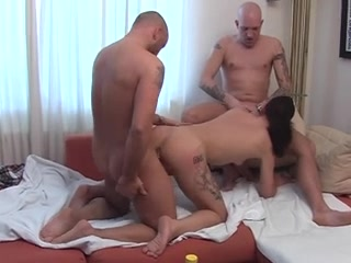 threesome in livingroom
