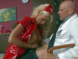 Courtney Taylor is a new nurse that takes doctor's cock