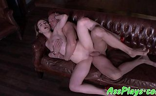 Bigbooty babe assfucked and deepthroated