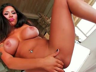 Oh yeah, Jenaveve Jolie is here and she wants to shock you! Today she is going to strip and work with her tight pussy. And dont forget about those big
