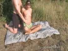 Natashas hardcore scene outdoors