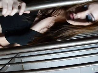 Lily Carter plays in jail