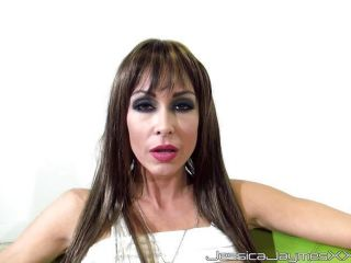Jessica Jaymes sucking out all the man goo out of this big cock