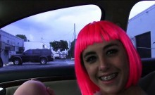 Teen Natalie Monroe pounded for a ride