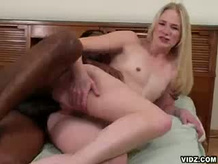 Aaliyah stuffs pussy with a big black cock