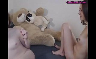 two babe fucks each other with strap on dildo
