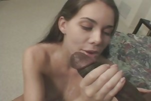Sexy Teen Can\'t Get Enough Black Cock