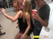 College Party Girls Start Drinking And Flashing In DormRoom