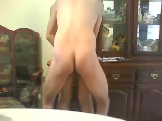 Horny home porn on the chair