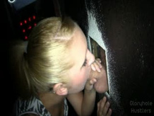Amber Swallows at the Glory hole