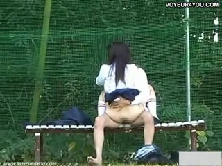 Raunchy thrilling outdoor sex