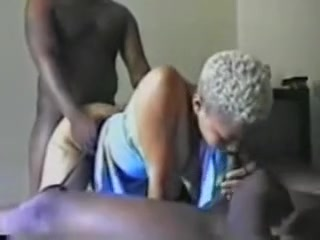 Blond gal\' Handles two Bros