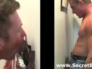 Gay oral for tricked straight at gloryhole