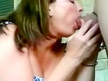 Backyard blowjob