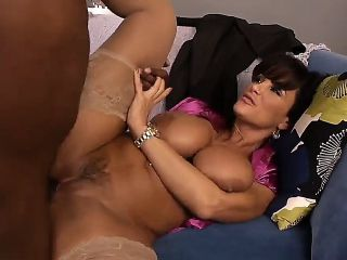 Lisa Ann blesses the big Jon Jon with her well-trimmed kitty. He is so nervous and uneasy about the fucking, that almost comes at the beginning, but t