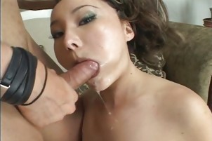 College Grad Enjoy Some Mouth Cumshot In A Bedroom