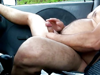 daddy in car